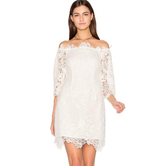 667e1efb12e6 Astr Dresses | Madeline Dress Off Shoulder Lace S Ivory | Poshmark